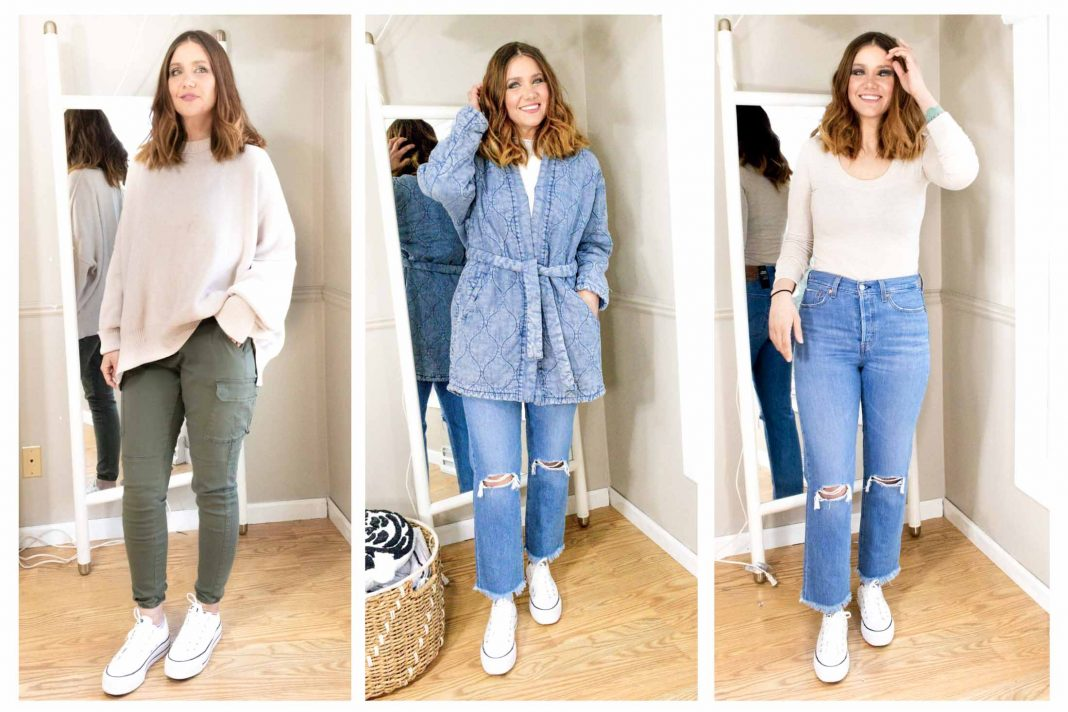 Levi's, Birks & Converse. Bodysuits, cargo joggers & an oversized sweater. A mini-capsule wardrobe is on order. Our 7 casual essentials, inside!