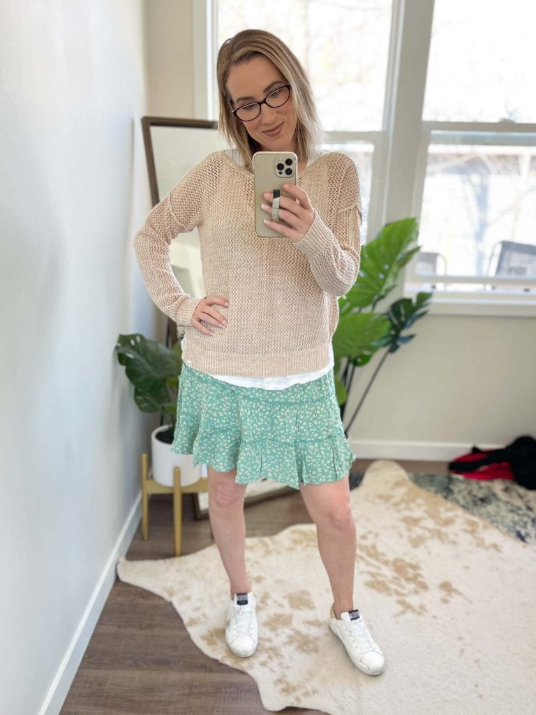 """I turned to my husband, mid-try-on & said, """"I think I'm...too old...for these skirts?"""" Pleated, tier & ruffle, I'd ordered & tried them all. Nope."""