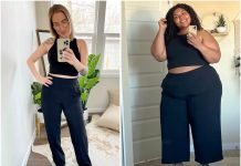 Another Athleta outfit we LOVE. The sustainable Nolita wide-leg pants & Conscious Crop Top are THE wardrobe pieces this season (don't forget the sneakers & side part.).