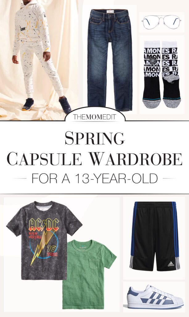 And while my job IS fashion, to this 13-year-old I know nothing about clothes & he has strong opinions. But this tween capsule wardrobe works — 100%.