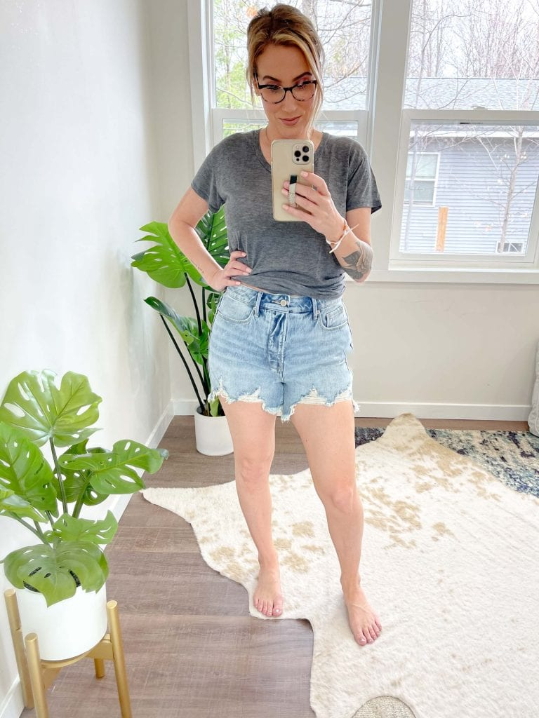 The dreaded denim shorts hunt is on. High-rise? Nope. We're going in on mid-rise cutoffs. MOTHER, Free People, Good American -- which pair wins?