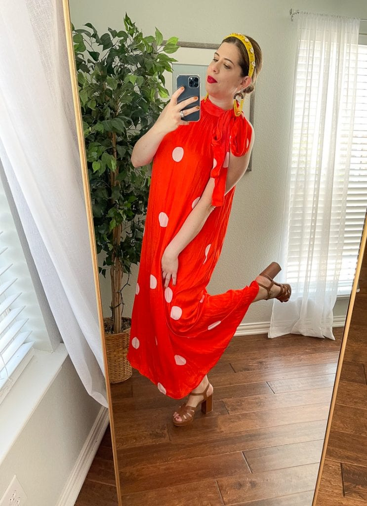 This year we need some fun fashion (think bold, bright & uplifting) so I found 4 colorful, eye-catching dresses (bohemian, red) at Anthropologie.
