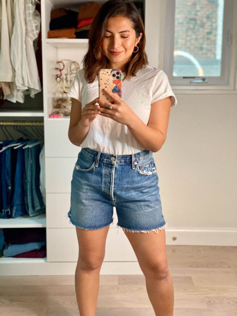 Agolde is 1 of TME's most-loved denim shorts brands, so  I tried 5 styles myself to find the perfect high-waisted summer cutoffs. Suprise...I found some winners.