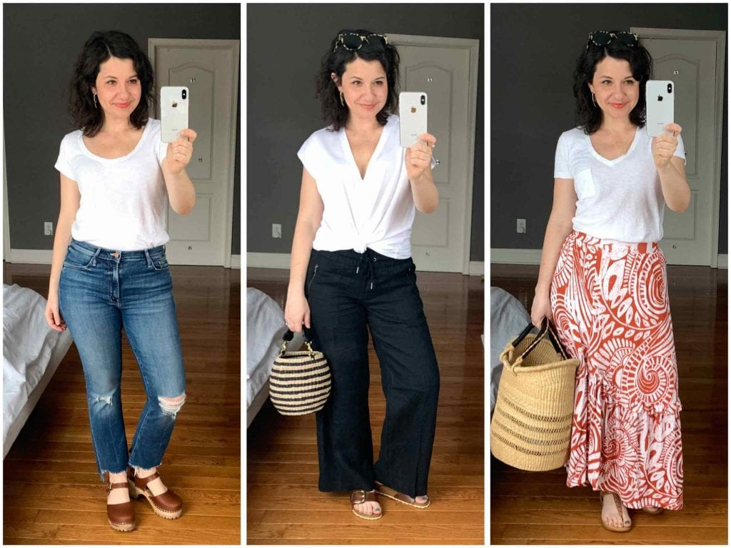 The classic white tee: a total closet work-horse. Finding the perfect white t-shirt has been a years-long project...seriously. From Madewell to FRAME, our review of over 10 brands.