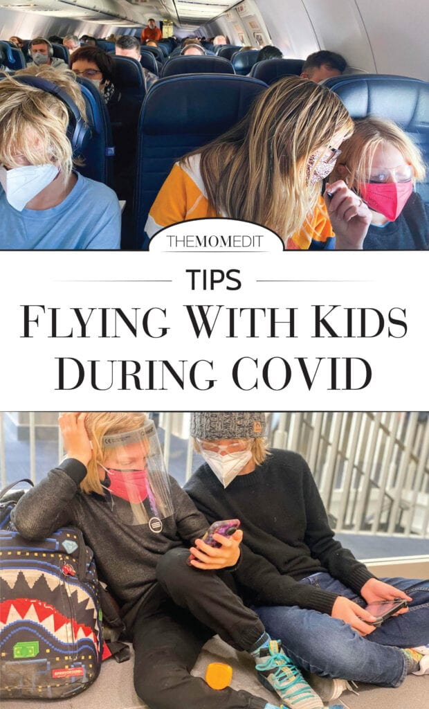 Traveling with kids during the pandemic? Risky, but we did it. Our tips, lessons learned & packing essentials for flying (airport, plane + rental car) that made it (feel) a bit safer.