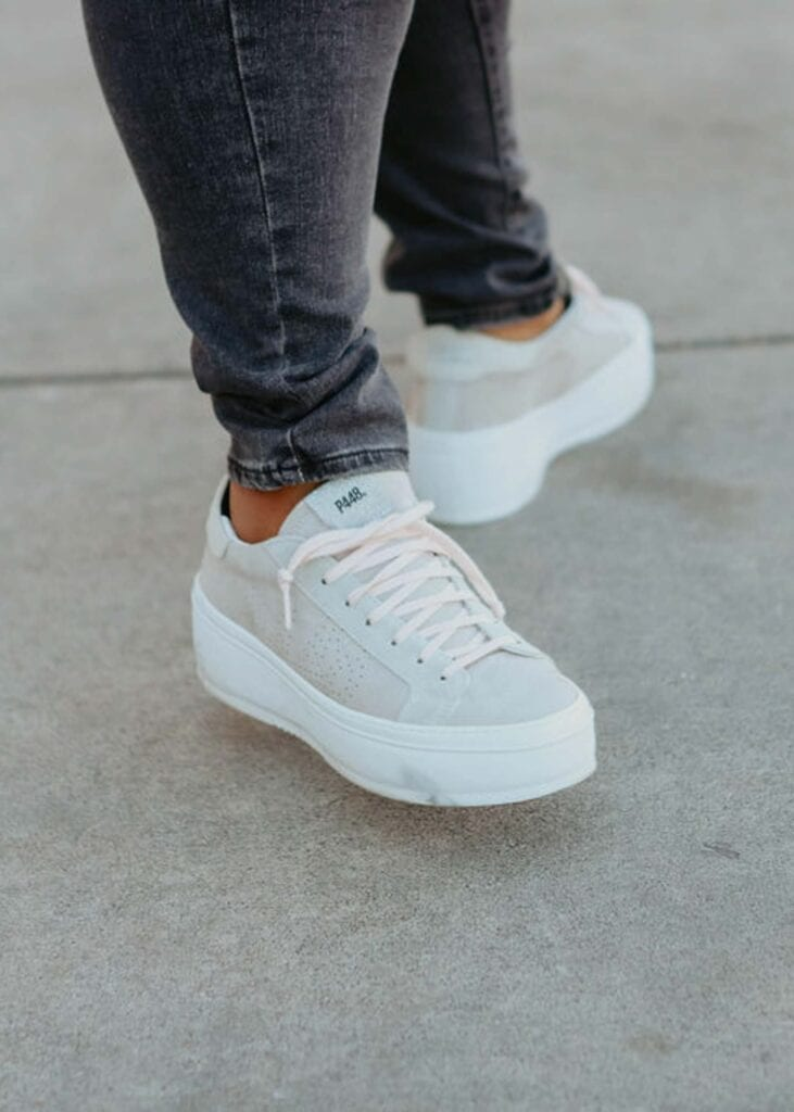 If there were only one pair of shoes that I could wear for the rest of my life, it would be the P448 Thea Sneakers. They are beyond comfortable, the platform heel is so on-trend, and they are versatile for any season.