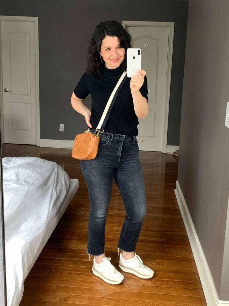 MOTHER denim wins for the jeans I wear on the daily. The real test: whether I could own just 1 pair of MOTHER jeans or 4 pairs of another brand. Answer: MOTHER. Every time.