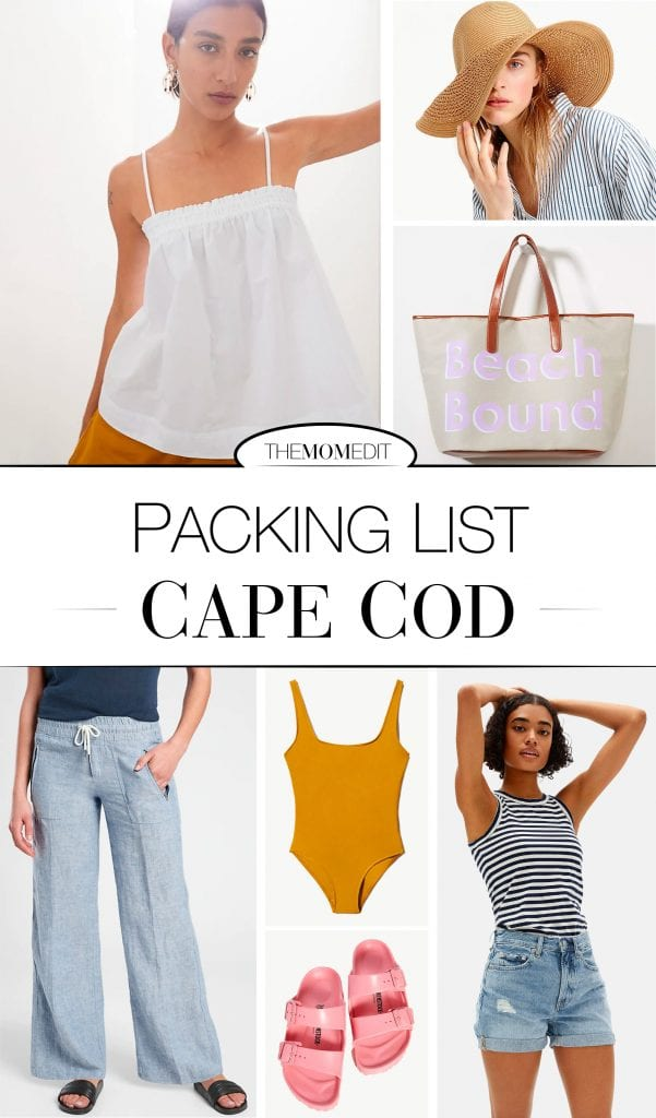 We're optimistically looking ahead to a Cape Cod vacay. Linen pants, gingham dresses & more are on my tried-+-true summer beach packing list.