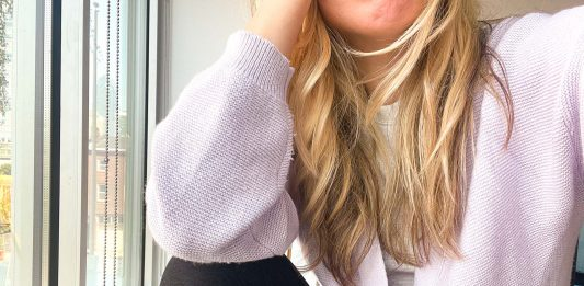Not a cardigan person? This lavender jawn -- NAADAM's textured balloon sleeve sweater -- works like a neutral. Here are 6 ways to wear it.