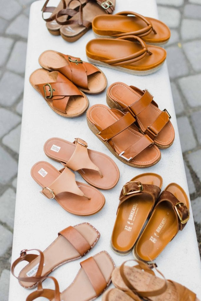 Tan sandals are a closet essential -- not as heavy as black sandals, more versatile than bold colors or patterns (& easier to clean,) plus feel more grounded + natural than white sandals.