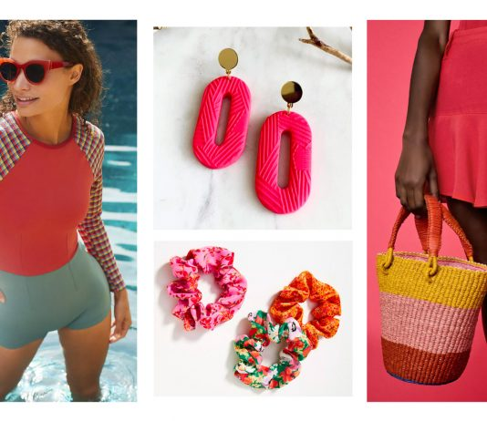 Accessories are a great place to play add bright & bold colors to any summer outfit. Think: clay earrings, pink lipstick, wide brim sun hats...& maybe some Birks.