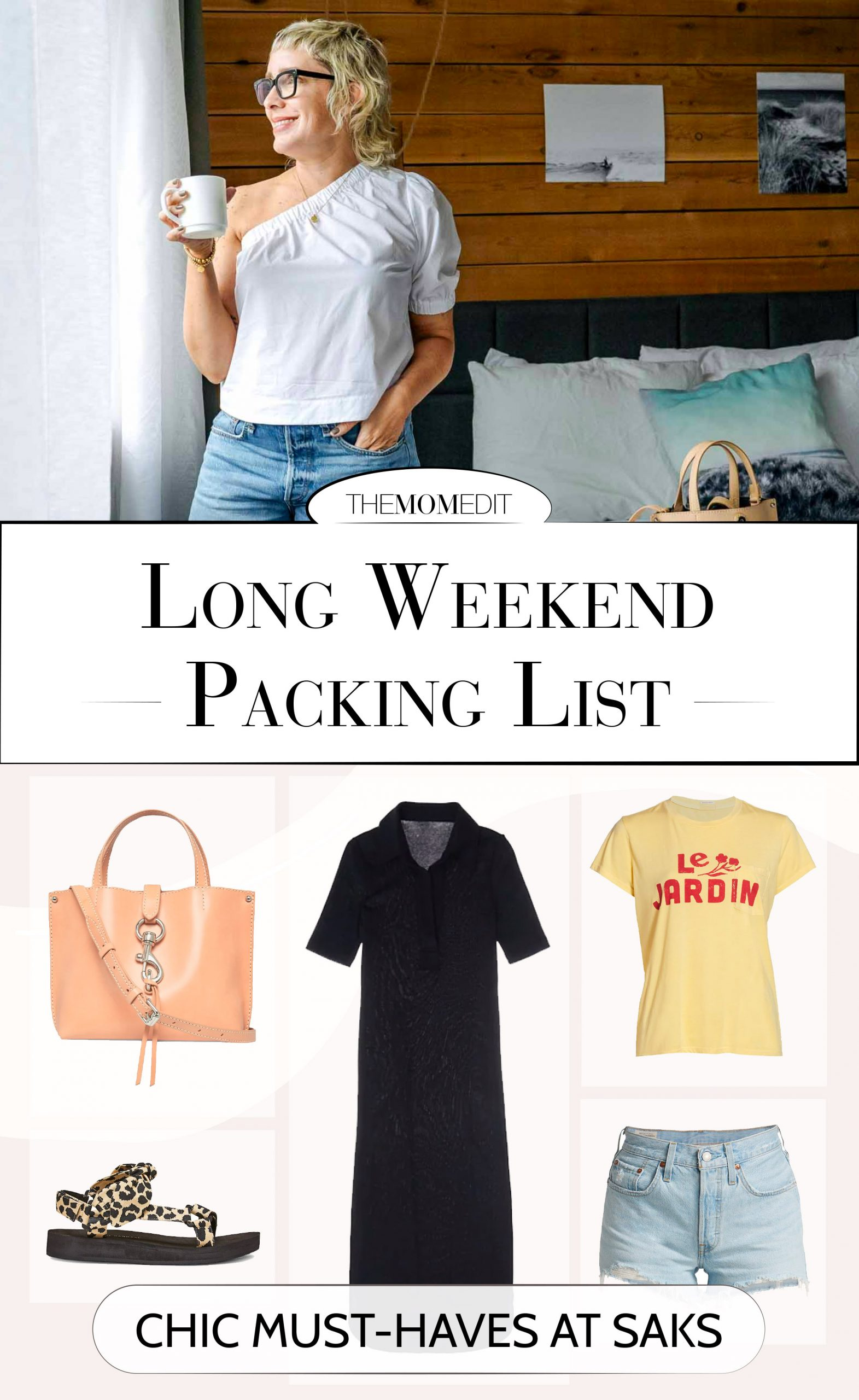 Trying to pack lightly? These 5 easy-yet-chic pieces at Saks are just right for a weekend away without much effort, but with style + comfort…