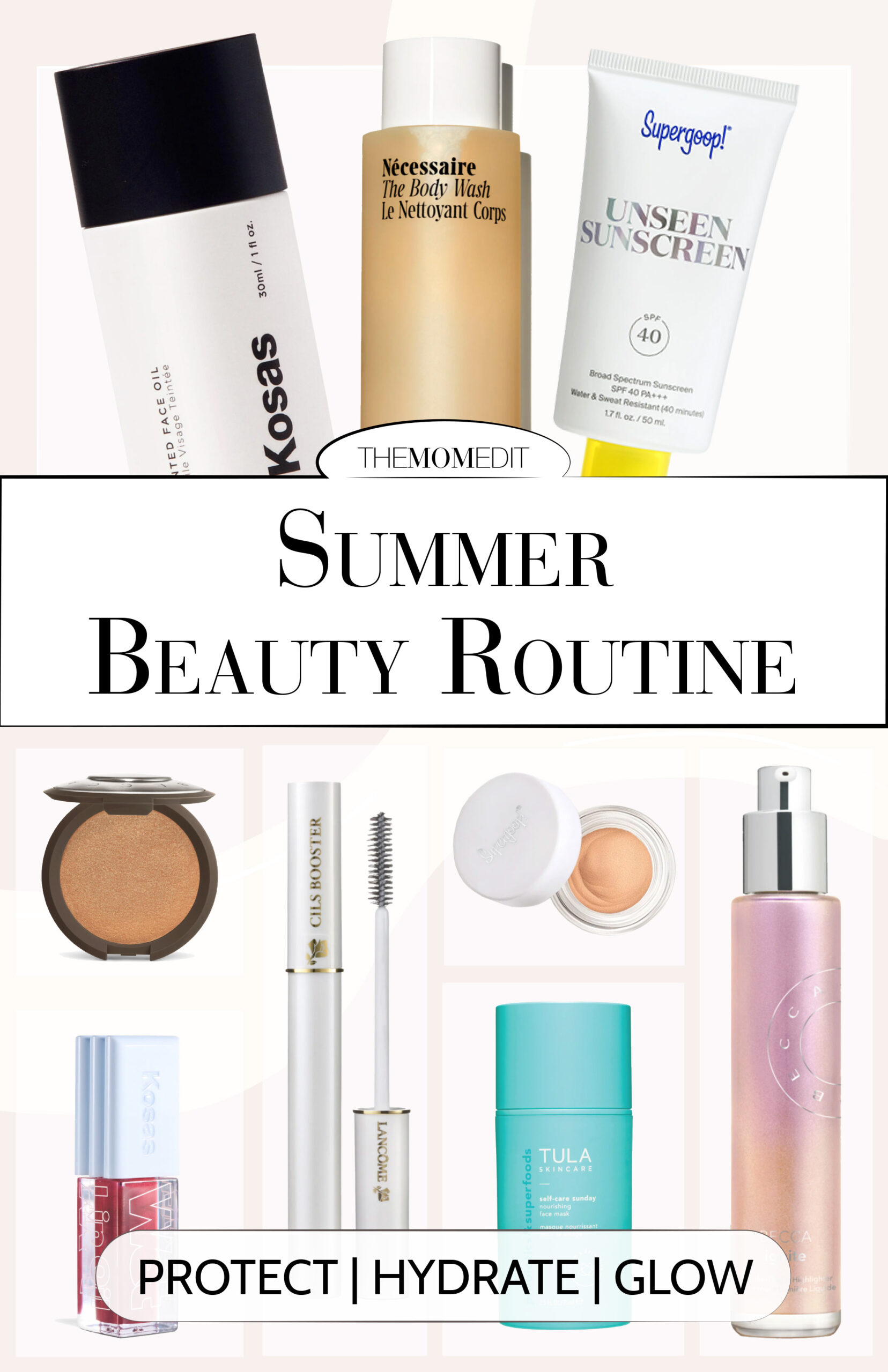 For summer skin & beauty essentials, we like 'em hydrating, glowing & loaded with SPF. These foolproof beauty products keep skin healthy -- + glowing -- all season long.