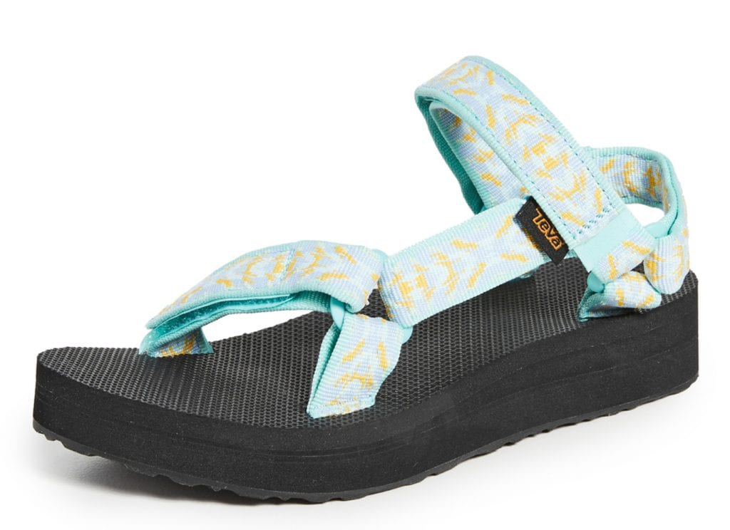 If platforms and flatforms had a baby...it would be these. Best of both worlds and you can't beat the reputation of Tevas.
