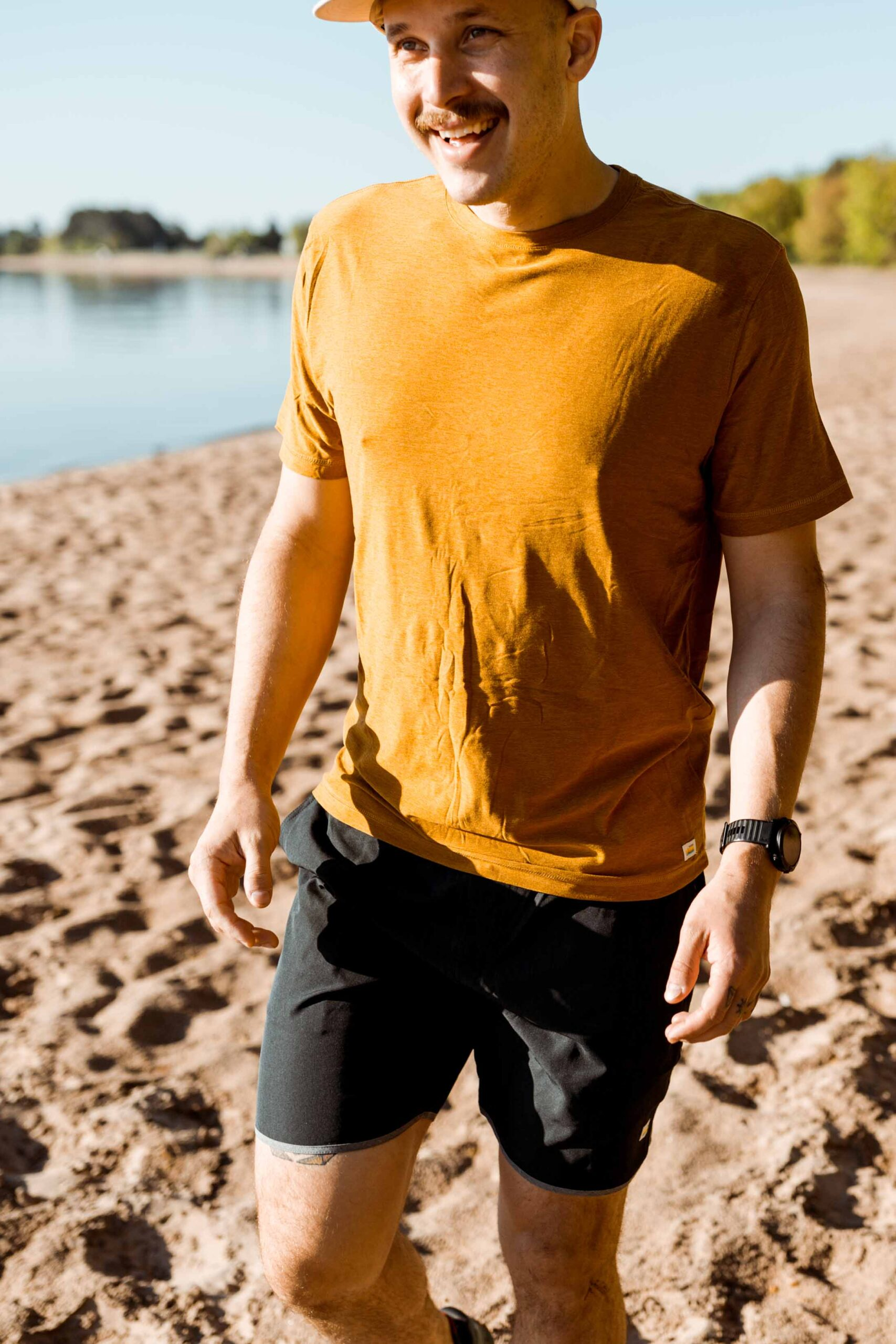 """The Ponto shorts, 5"""" inseam Kore shorts & men's performance tees = versatility without sacrificing comfort. Vuori Clothing is unmatched in both."""