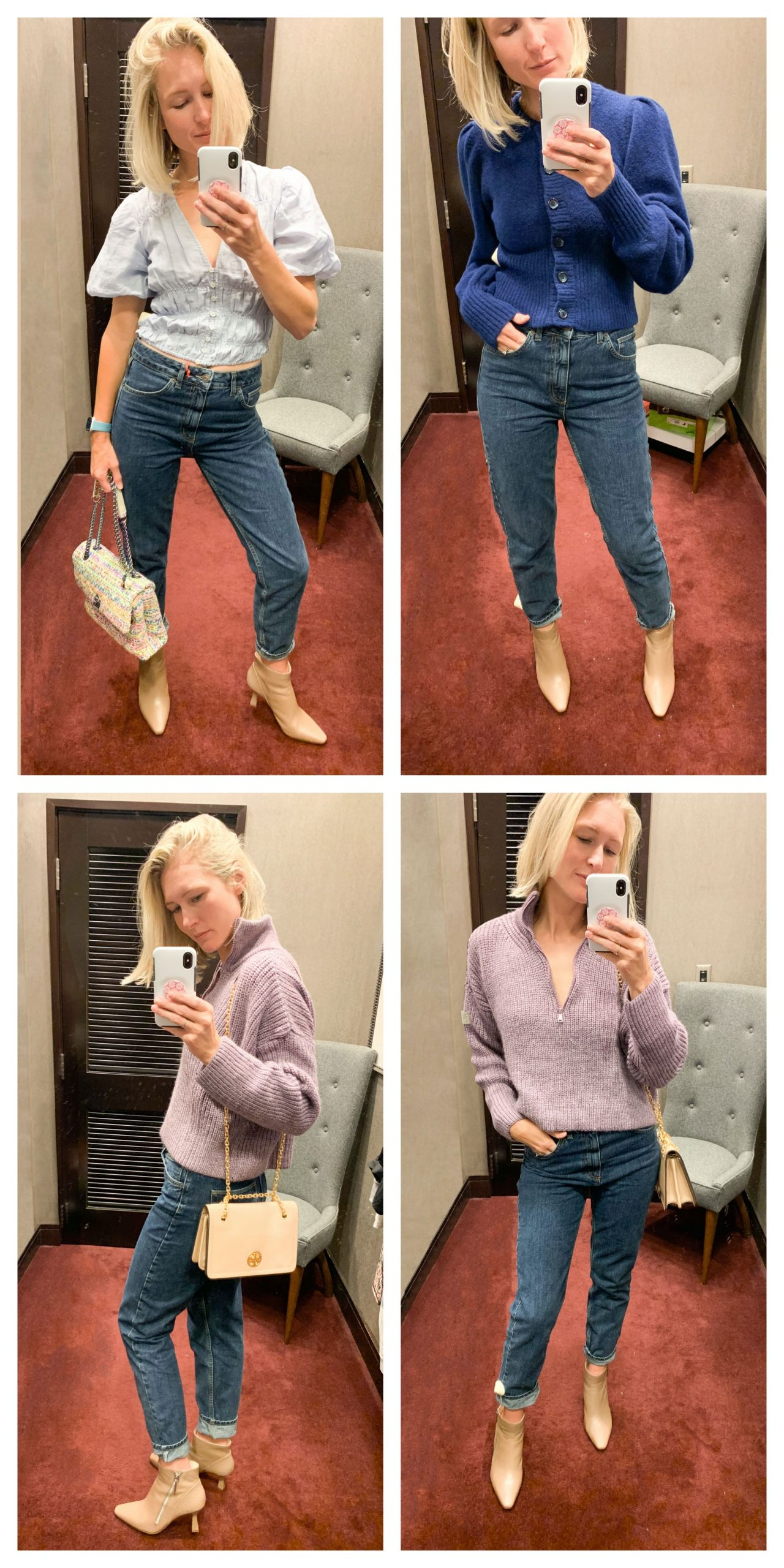 I liked these the second I pulled them on. They feel & look like a reinvented version of the mom jean...maybe like, if Levi's & AGOLDE had a Mom Jeans baby. A bit of that classic rigidity, but with a relaxed, comfortable feel to them.