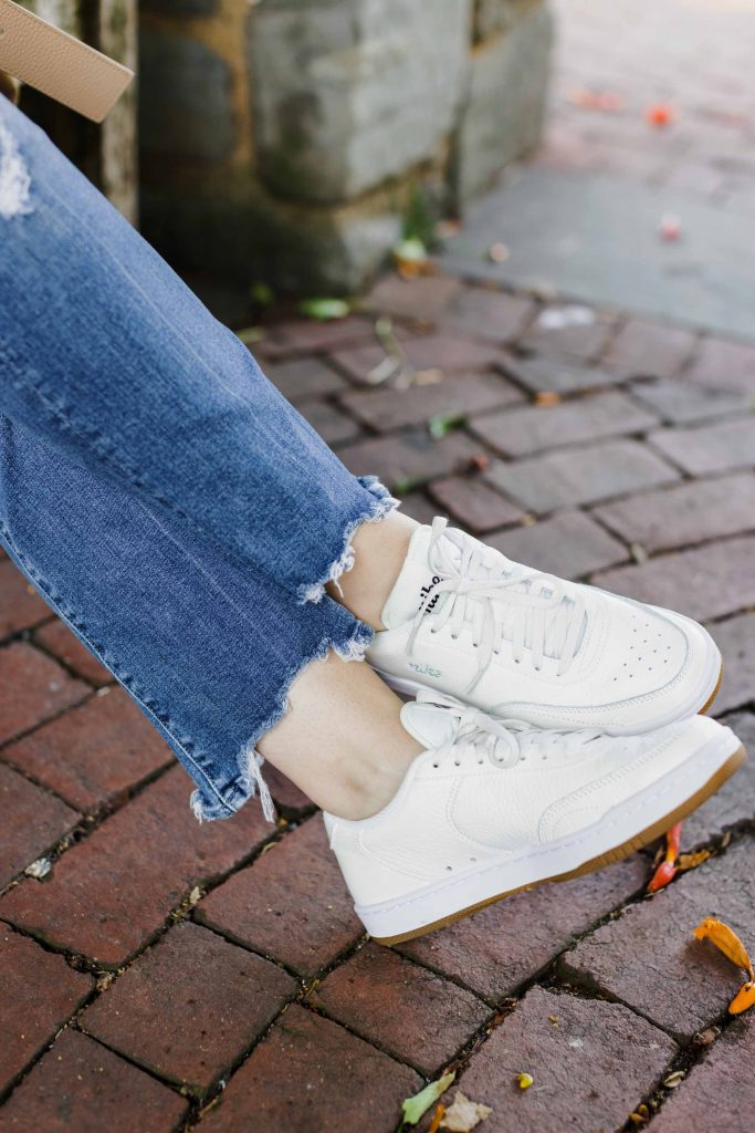"""I like the cut of MOTHER The Insider jeans, but these are the best I've tried. A 10.5"""" rise, unique chew hem, fab vintage wash, 15'' leg opening, 94% cotton makeup --it all works."""