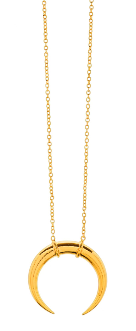 I've been such a huge fan of Gorjana's boho-chic-inspired jewelry for years now! I am especially obsessed with this crescent necklace that comes in silver too.