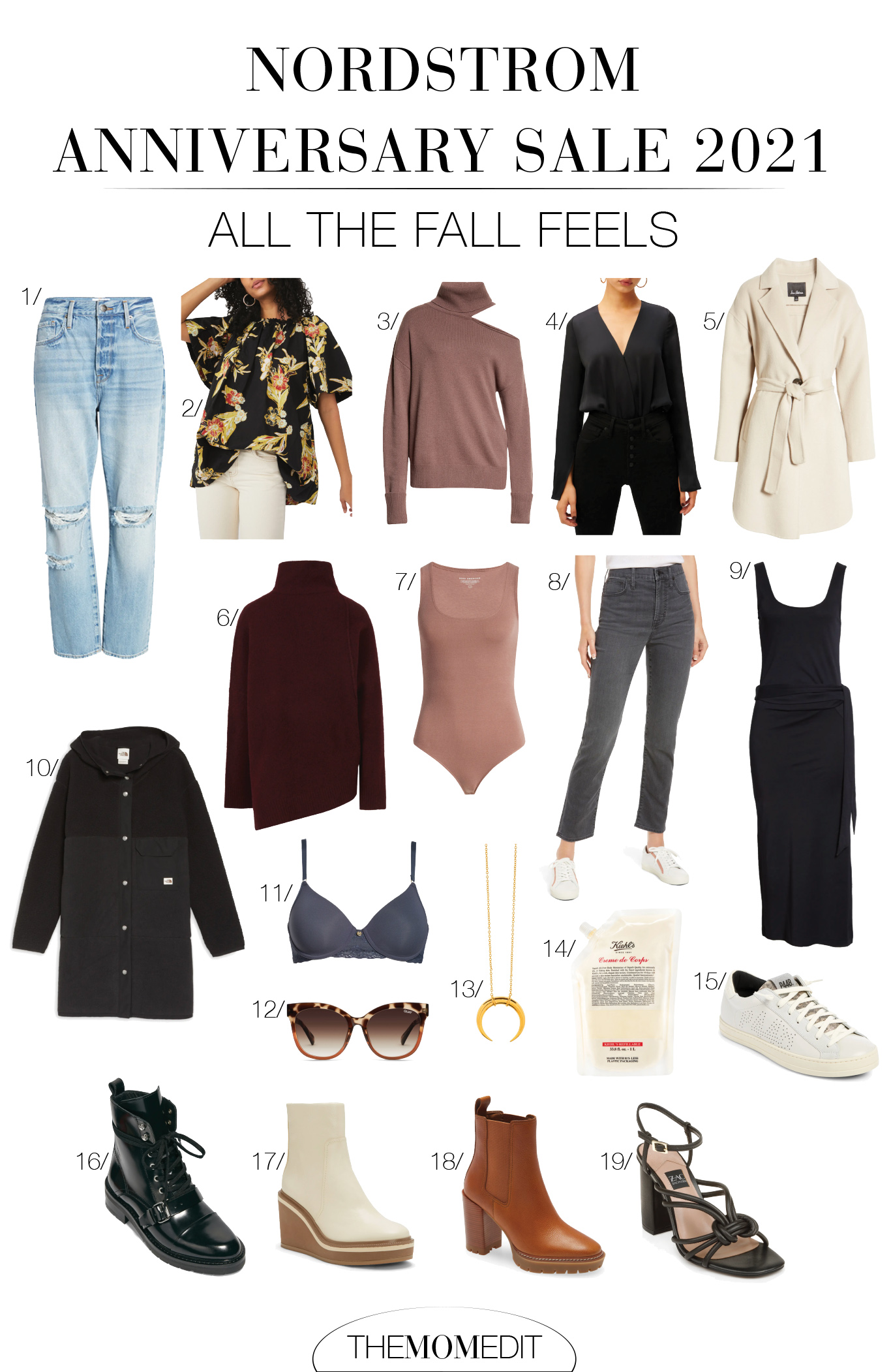 Updating my fall closet wi/ my 3 fav fall wardrobe staples: boots (lug sole Chelsea boots, please), jeans (straight-leg, high waist denim for life,) + sweaters (oversized chunky knit pullovers + wool turtlenecks.)