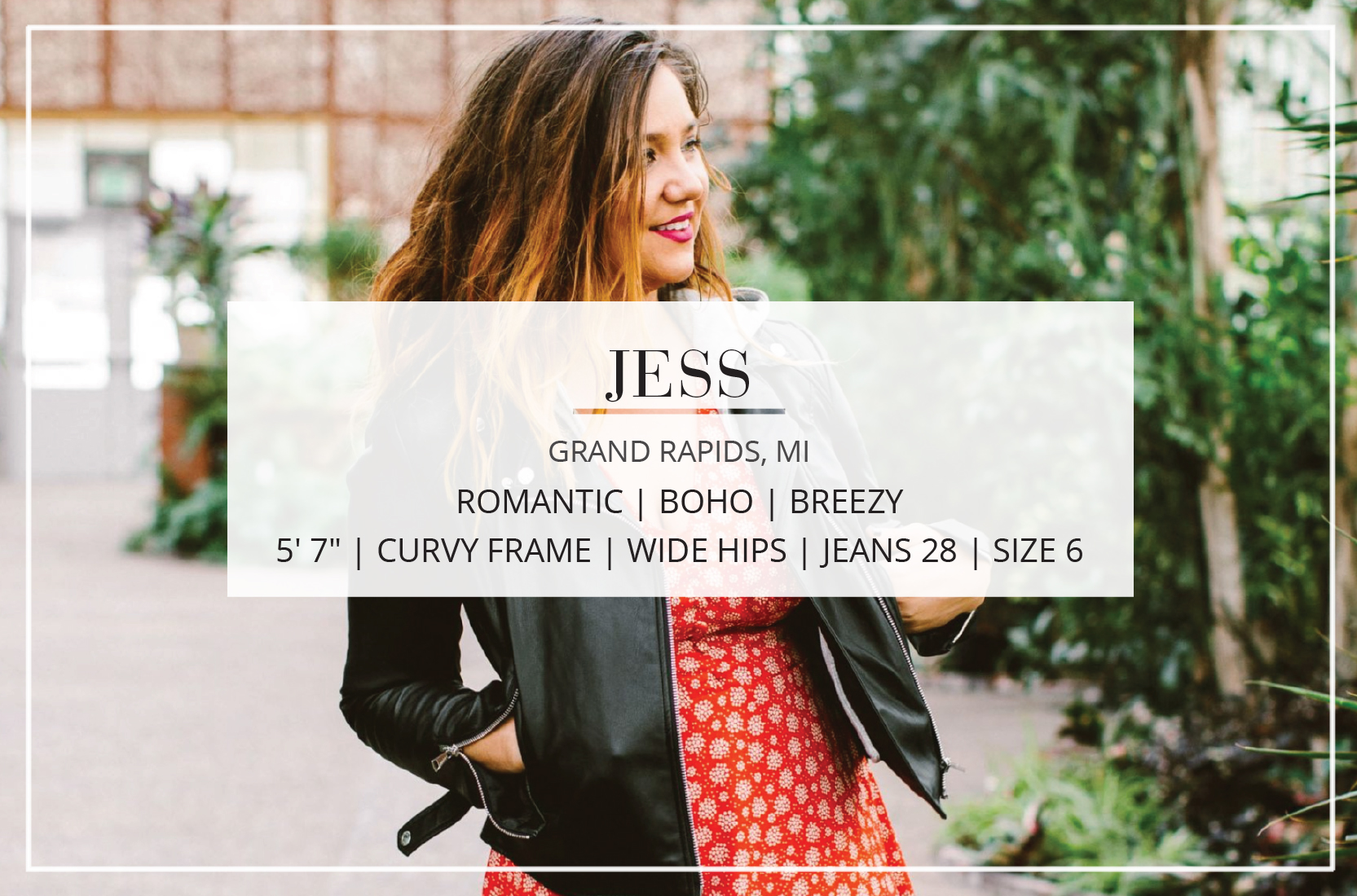 A contributor at The Mom Edit, our resident artist/fashionista Jess' style is boho, vintage, chic.