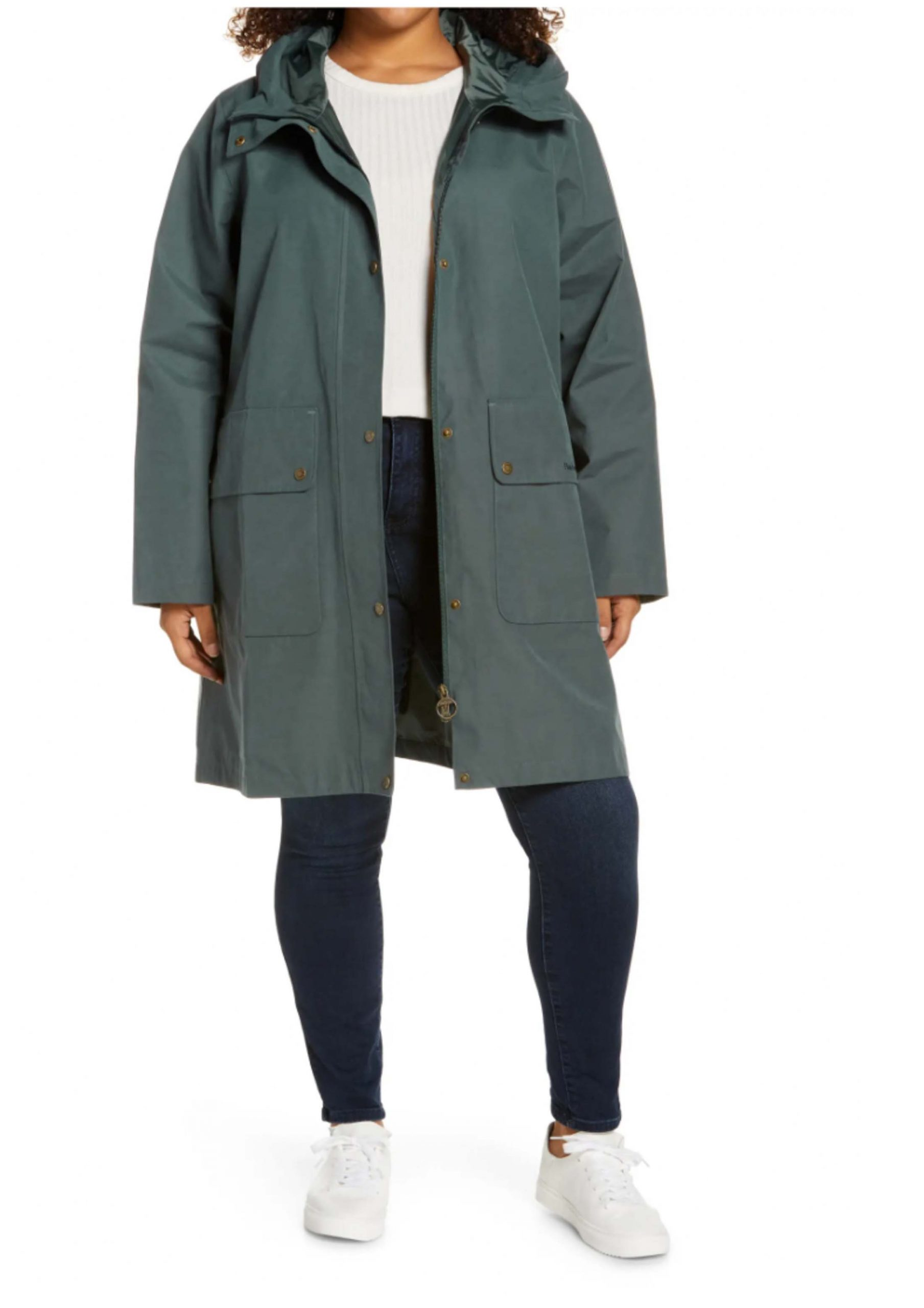 I love the quality of Barbour jackets and the Ashover hooded raincoat is sleek and in the color of my dreams.
