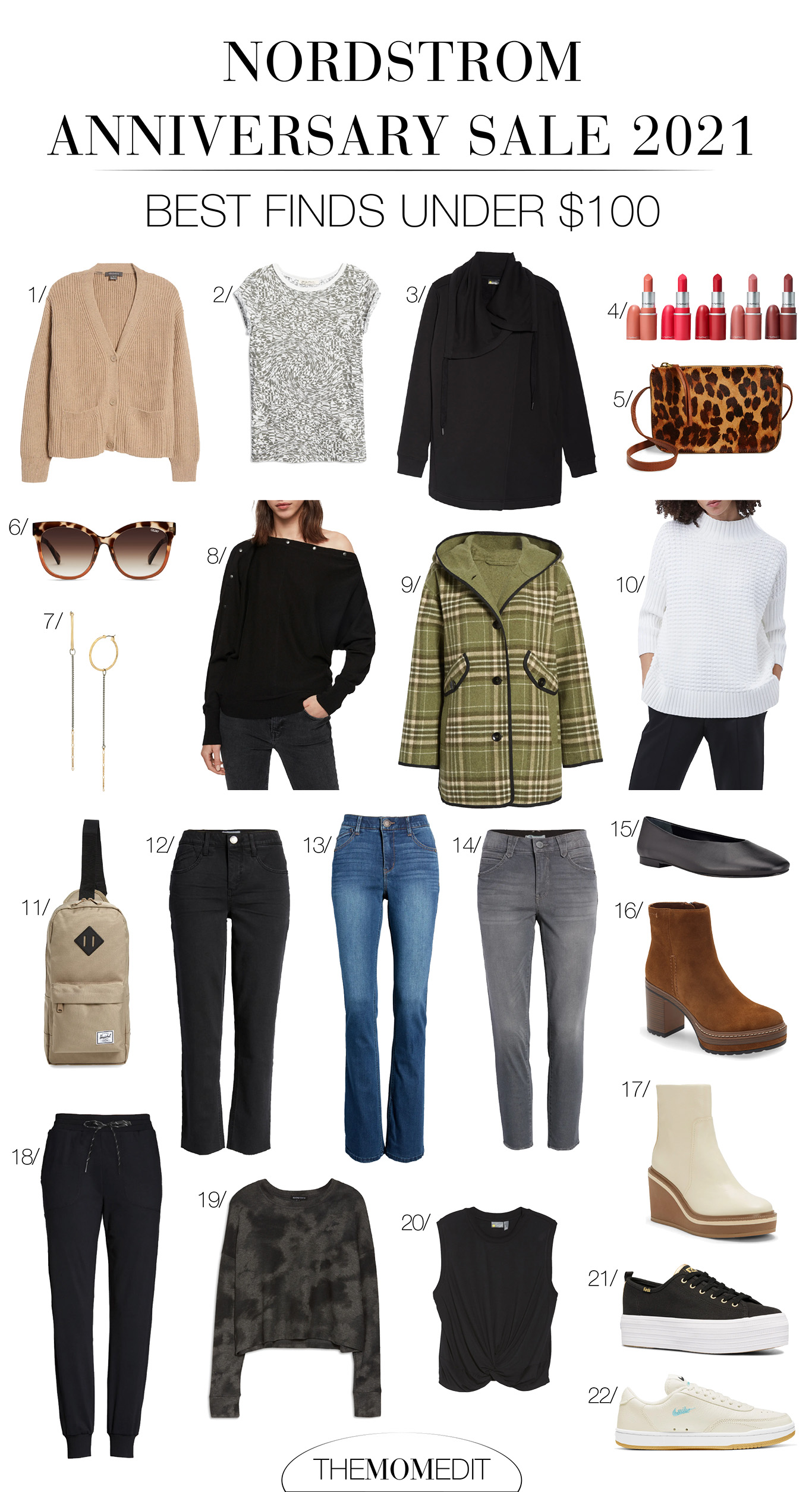 Many of the most exciting pieces in NSale are under $100. GREAT denim under $50, the COZIEST sweatshirt-wrap under $60, my fav joggers under $40, & the TME fav basic tee under $13!