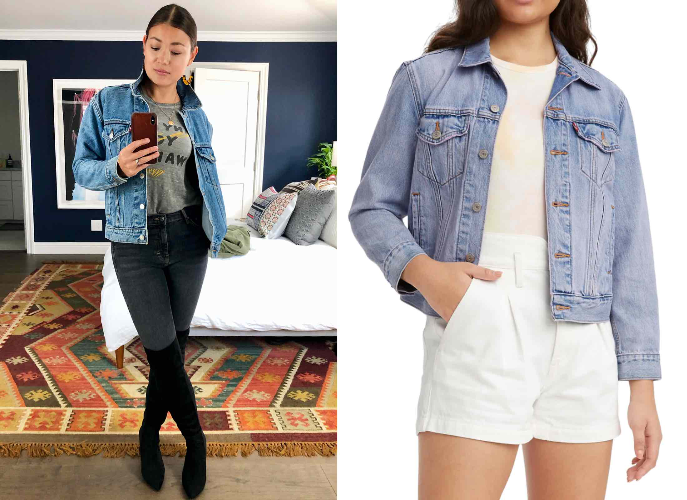 This Ex-Boyfriend Trucker Jacket is about as classic a piece as they come. As the name might suggest, it's intentionally oversized, but...authentically so, in a borrowed way.