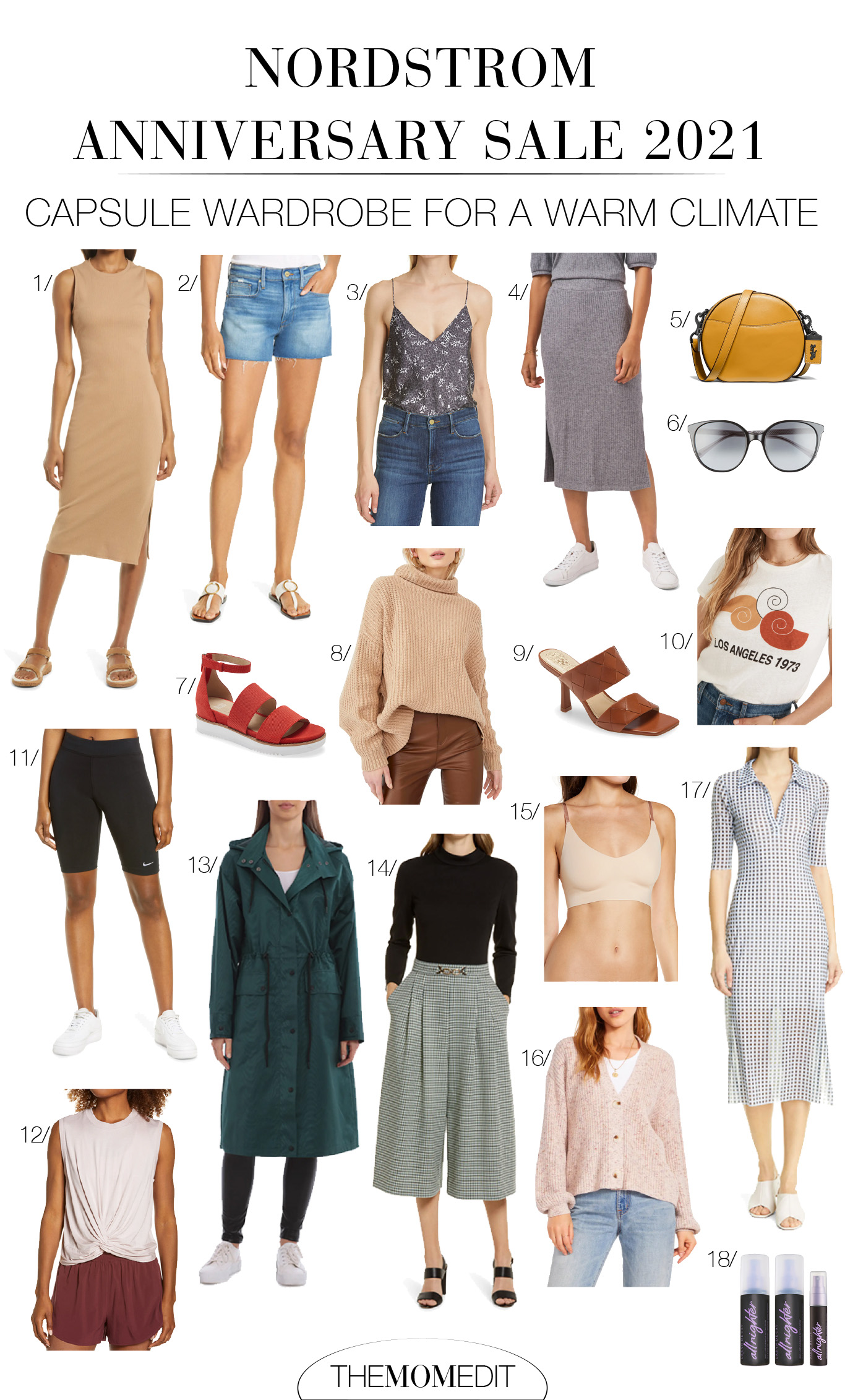 """I haven't forgotten what """"fall"""" & """"winter"""" mean when you live in a warm climate. SO, I scoured the 2021 NSale to find the best capsule wardrobe picks for a warm climate."""
