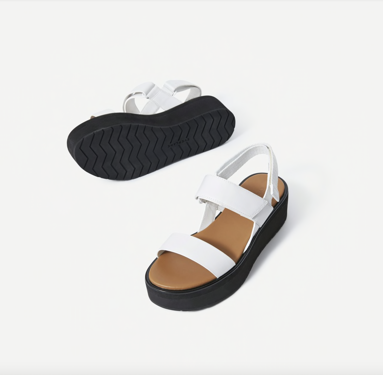 The Everlane platform sandals are equal parts cute and comfortable, and the platform heel is made from ultra-cushioned EVA.