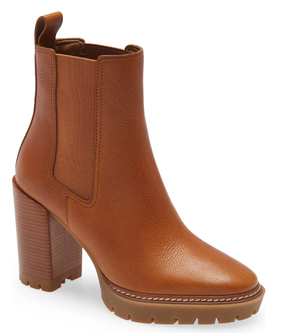 Chelsea style + lug soles + Tory Burch = the perfect shoes. I'm STILL trying to decide between these and the Tory Burch Chelsea Lug booties, I love them both.