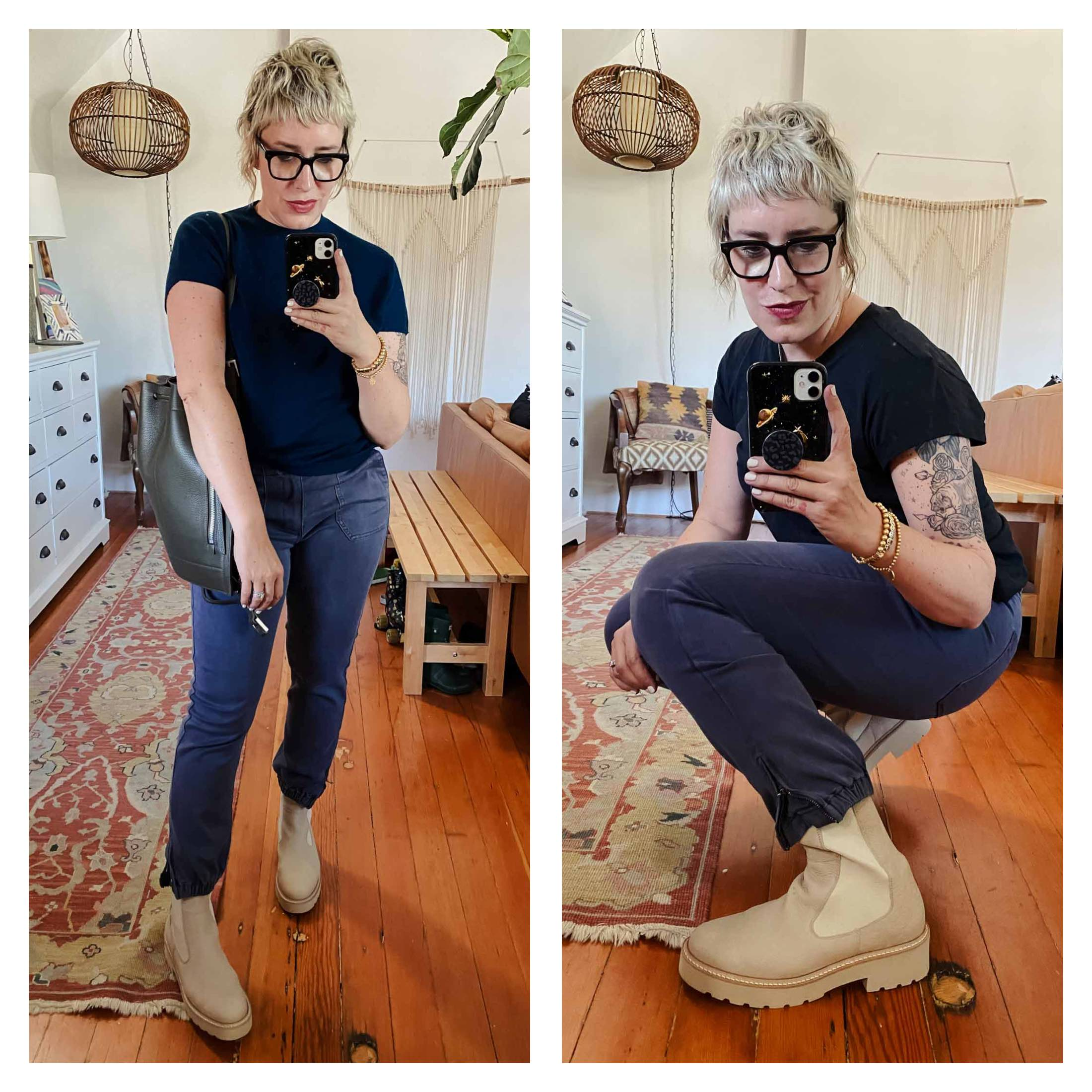 These Paul Green chelsea boots are just an incredibly beautiful, well-made shoe. Yes, I'll be treating them for PNW wear, have no fear.