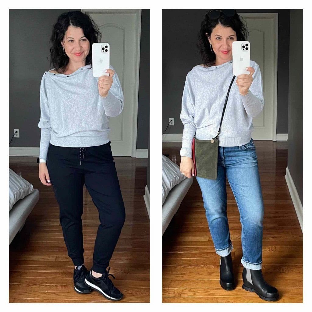 This EILEEN FISHER jacket, the AllSaints sweaters, Clare V bags & Aquatalias are JUST what I want to wear this fall & winter. And of course...cardigans.