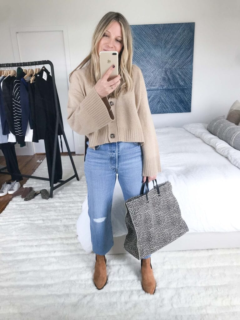 These FRAME booties are a stellar example. They're comfortable and sleek, with a shaft height high enough to cover your leg in a cropped-denim situation.