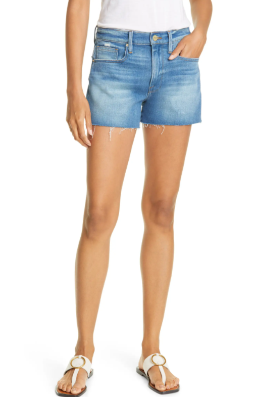While everyone else has to resign their cutoffs to the back of their closets come fall, you get to rock those shorts nearly all-year-round! I love the wash on these Le Brigette Cutoff Denim Shorts.