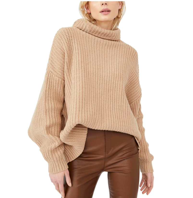 Here's where the Free People Swim Too Deep Turtleneck Sweater comes in. Oversized, under $100, available in a slew of colors, perfect for those days where you just want to stay in bed...but can't.