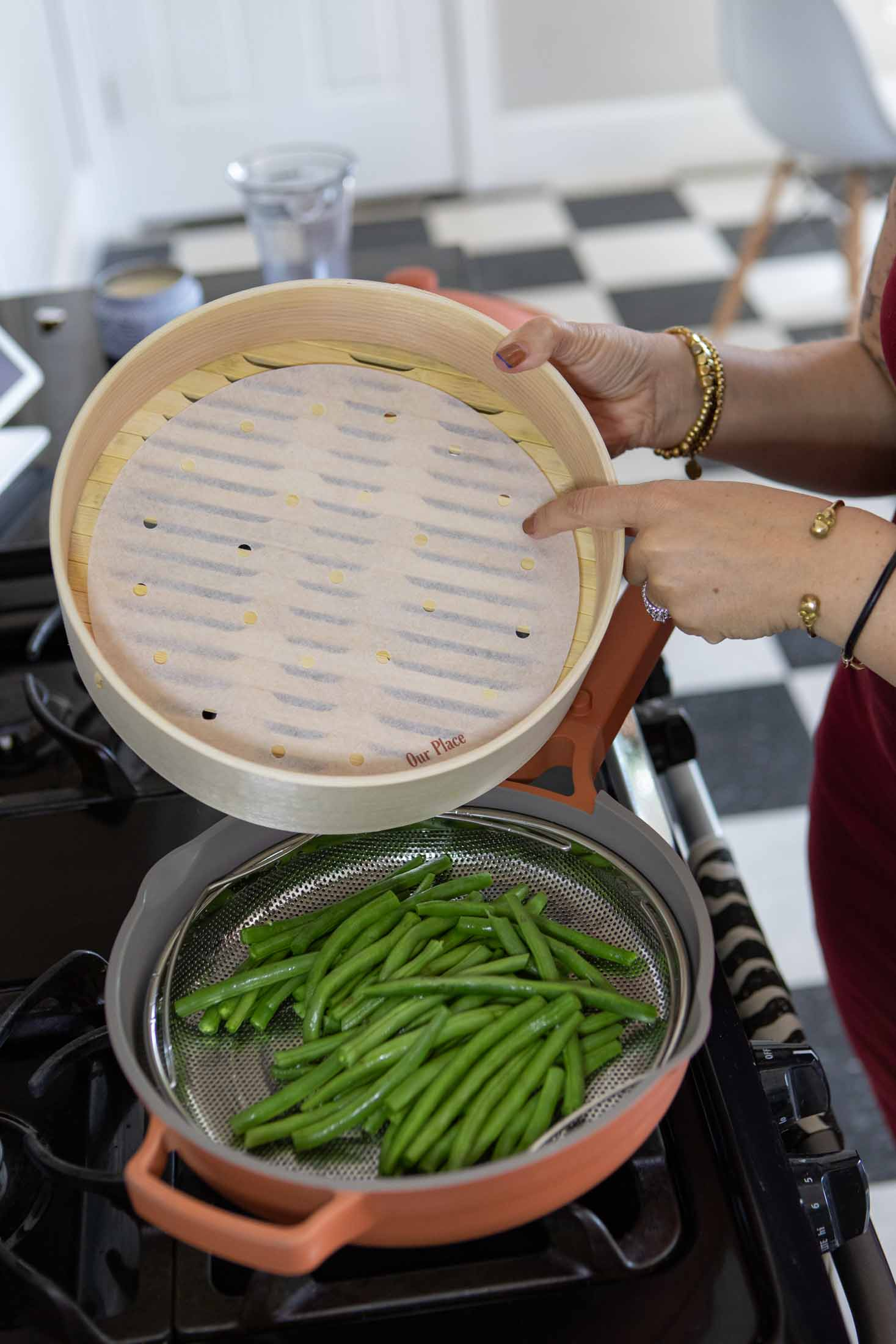 This easy dinner is not only quick to cook, but is made even easier by the most-used pan in my kitchen: my Our Place Always Pan.