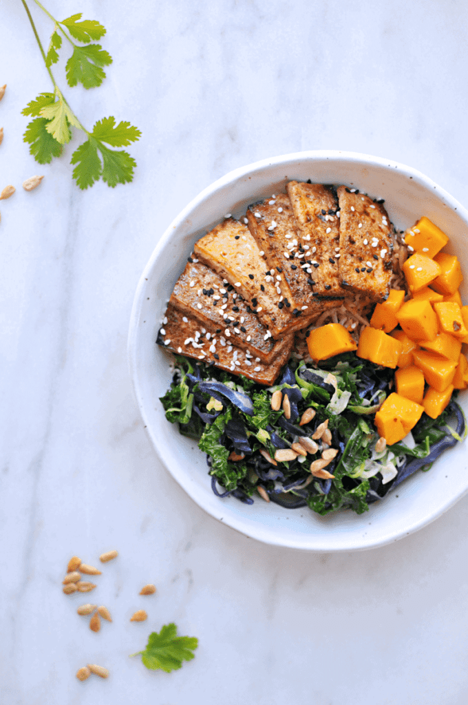 """I've perfected a weeknight vegan meal plan I can stick with. It's not  fancy or inventive, but it features dinners my kids love + a """"schedule"""" that allows me some creativity & versatility...without having to think too hard."""