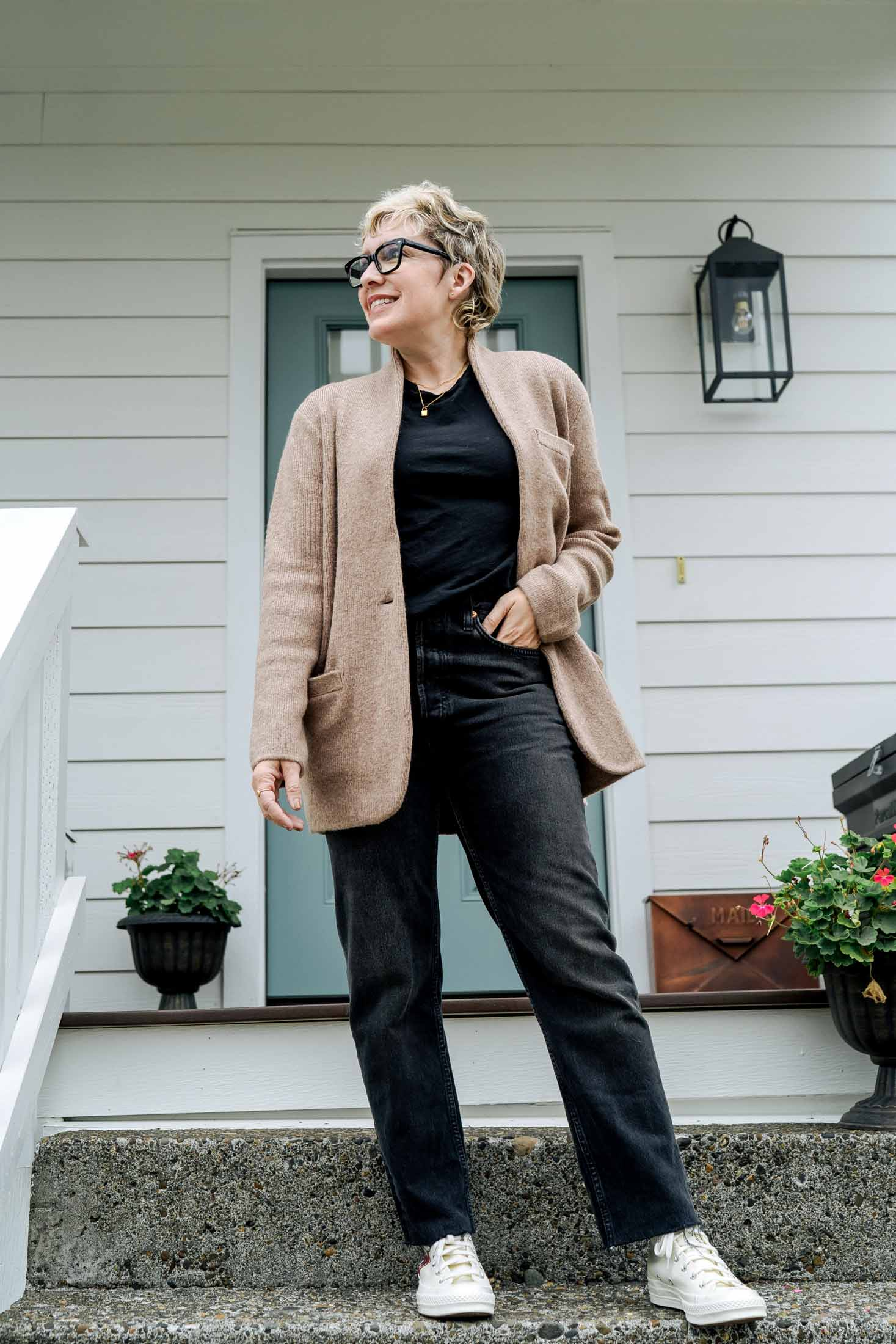 High-tops add that cool sporty vibe to literally everything. But — I do realize high-tops are sometimes a bit trickier to style than low-profile sneakers, especially on those of us with shorter frames.