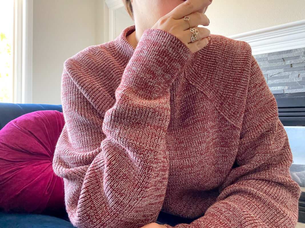 At first, The Free People Too Good Sweater wasn't doing it for me, but once I took it out of the box, I knew it was the perfect cropped knit sweater for this fall. The color, texture, length & mock neck...it really is