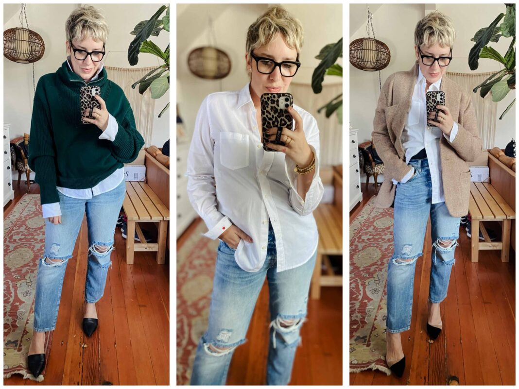 A white button-down is 1 of those staples that's part of a classic closet. Many have your own criteria for the perfect white shirt, but here's my criteria for the perfect white button-down...