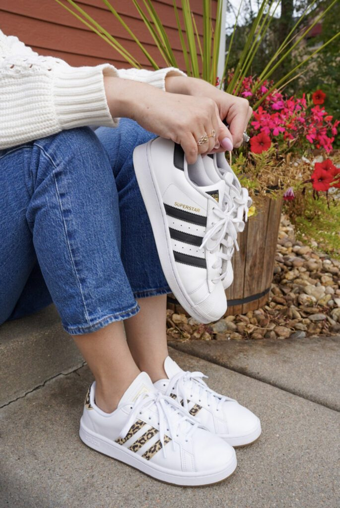 Ever since purchasing my Adidas Grand Court sneakers, I've found myself choosing 'em over my Adidas Superstar sneaks. I knew things were getting pretty serious when I took them to Boston & left my Superstars at home.