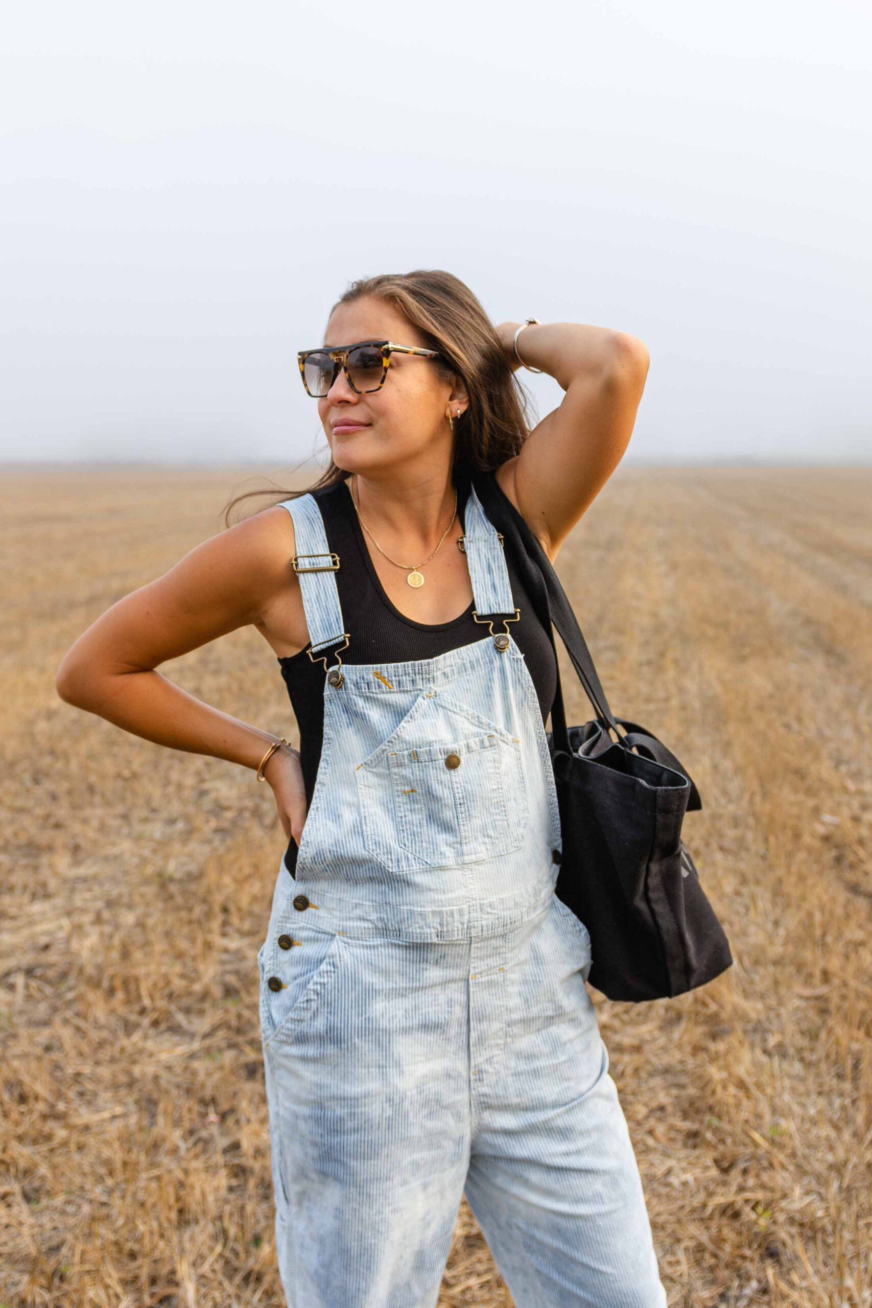 """I've found the Golden Ticket to 2nd trimester fashion & it has nothing to do with """"maternity"""" wear. Overalls. This """"still fits into standard clothes"""" phase is short-lived & I'm milking it (heh) for all it's worth."""
