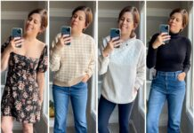 As I am want to do, I quickly fell down a rabbit hole of cozy fall sweaters, high-rise leggings and high-rise flare jeans. Abercrombie did not disappoint.
